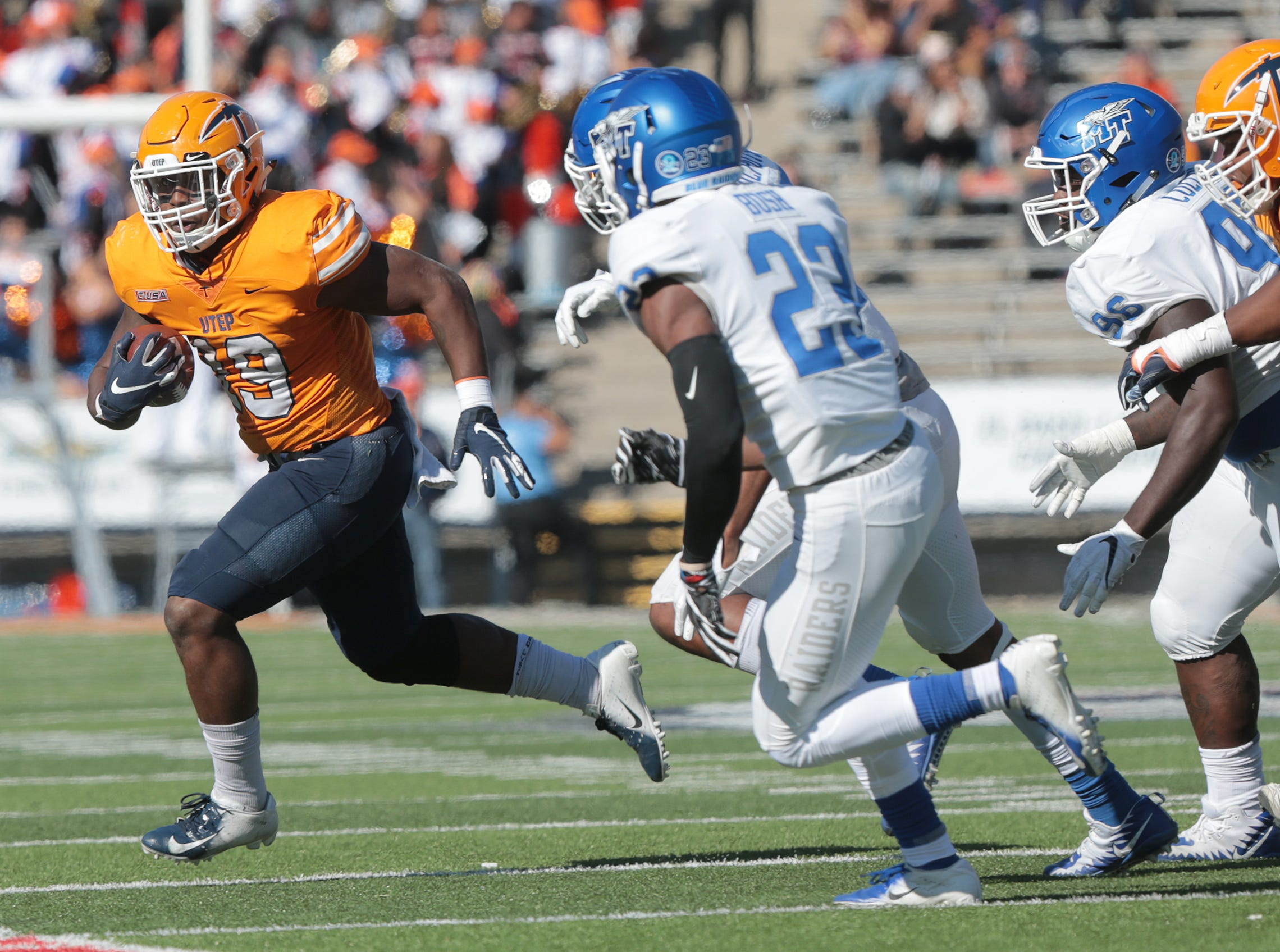 UTEP football had a chance to add a win this season with a visit Saturday from Middle Tennessee at Sun Bowl Stadium, but the Blue Raiders defeated the Miners 48-32.