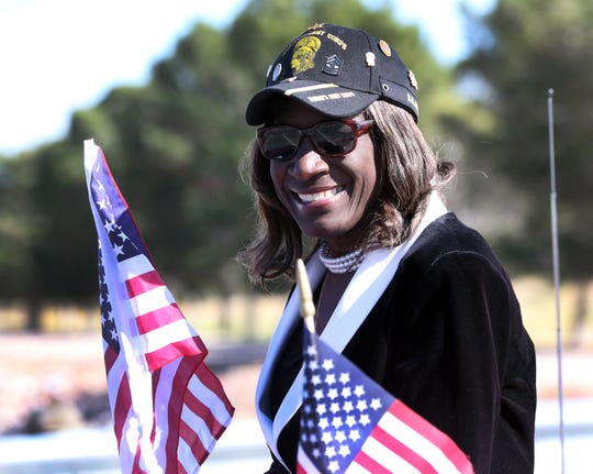 Retired SGM Dibella Pierce was Grand Marshall of the 2018 Northeast Veterans Day Parade Sunday. Pierce served 30 years in the Army.