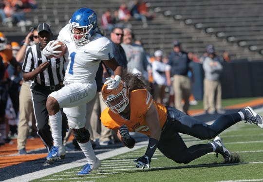 The Middle Tennessee Blue Raiders defeated the UTEP Miners 48-32 on Saturday at Sun Bowl Stadium.
