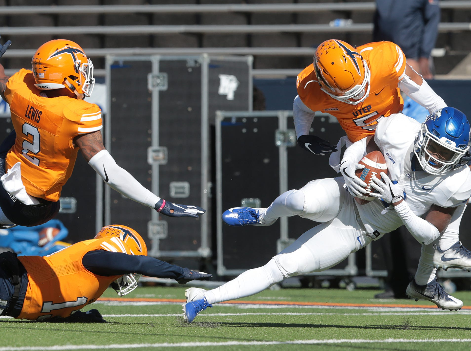 UTEP football had a chance to add to their win this season with a visit from Middle Tennessee at the Sun Bowl Saturday. The Blue Raiders defeated the Miners 48-32.