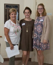 (From left) Sandy Walter, education chair for the Millville Woman's Club, and the club's Girls Career Institute delegates Lauren Kavanagh and Alyssa Robbins.