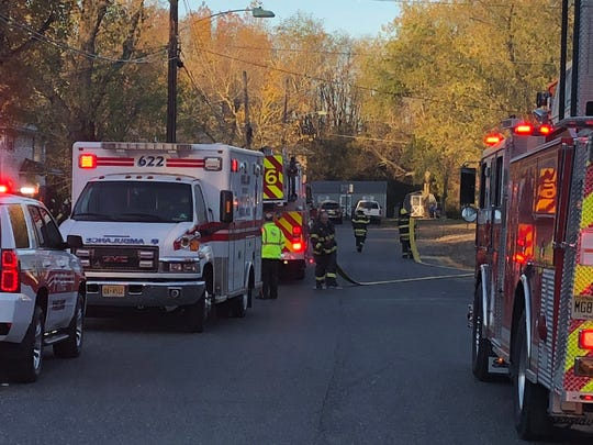 Multiple Vineland fire companies responded to a fire at Shirley Court duplex Sunday morning.