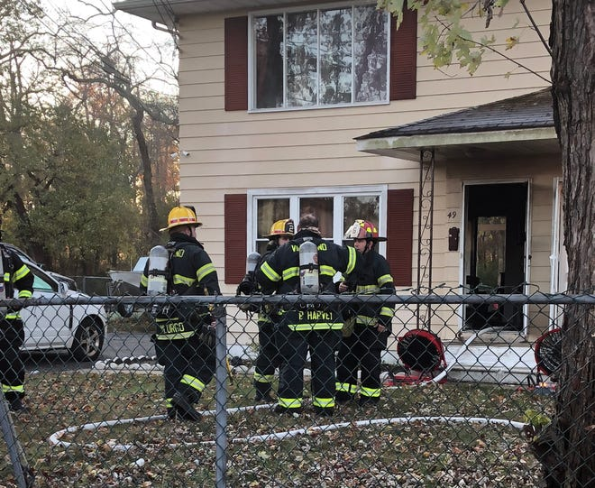 Vineland firefighters responded to a fire at duplex on Shirley Court Sunday morning.
