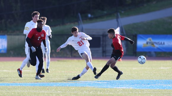 Drew Lasher was called up to the varsity for the postseason in 2016 and promptly scored the game-winner against Pearl River, giving Somers its first Section 1 title since 1992.