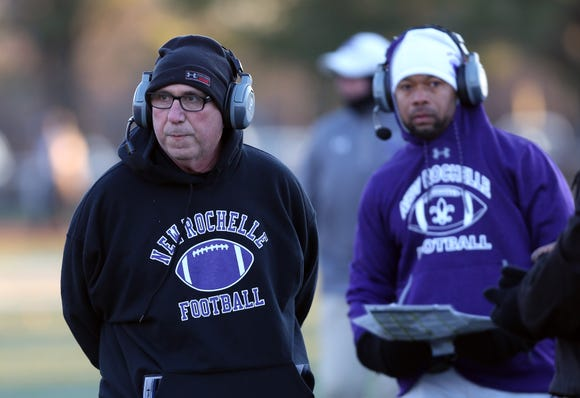 New Rochelle defeated Newburgh 42-7 to win the Class AA regional championship game at Mahopac High School Nov. 9, 2018.