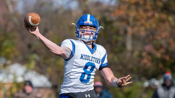 Middletown QB Fry to play college ball in Delaware; Appoquinimink nationally ranked