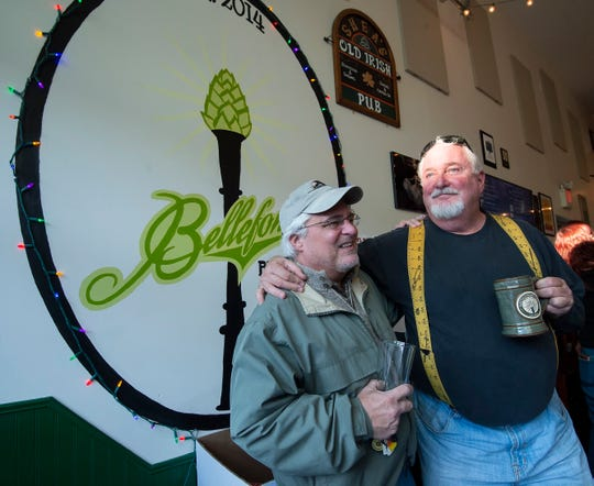 First State Brew Tours stops at Bellefonte Brewing Company last month.