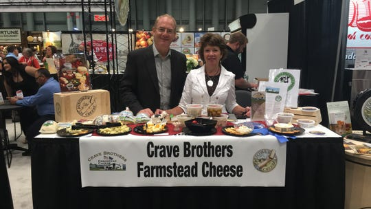 George and Debbie Crave attend the Fancy Food Show each summer in New York city to meet with current buyers and distributors. The Craves have also earned honors in prestigious cheese circles, sweeping the mozzarella class at the U.S. Cheese Championship in 2017.