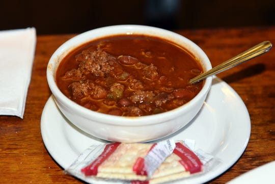 The chili at Terry's Tavern, featuring fresh ground beef and beans and made daily, is among the most popular items on the menu. The recipe has been used since the establishment opened more than 60 years ago.