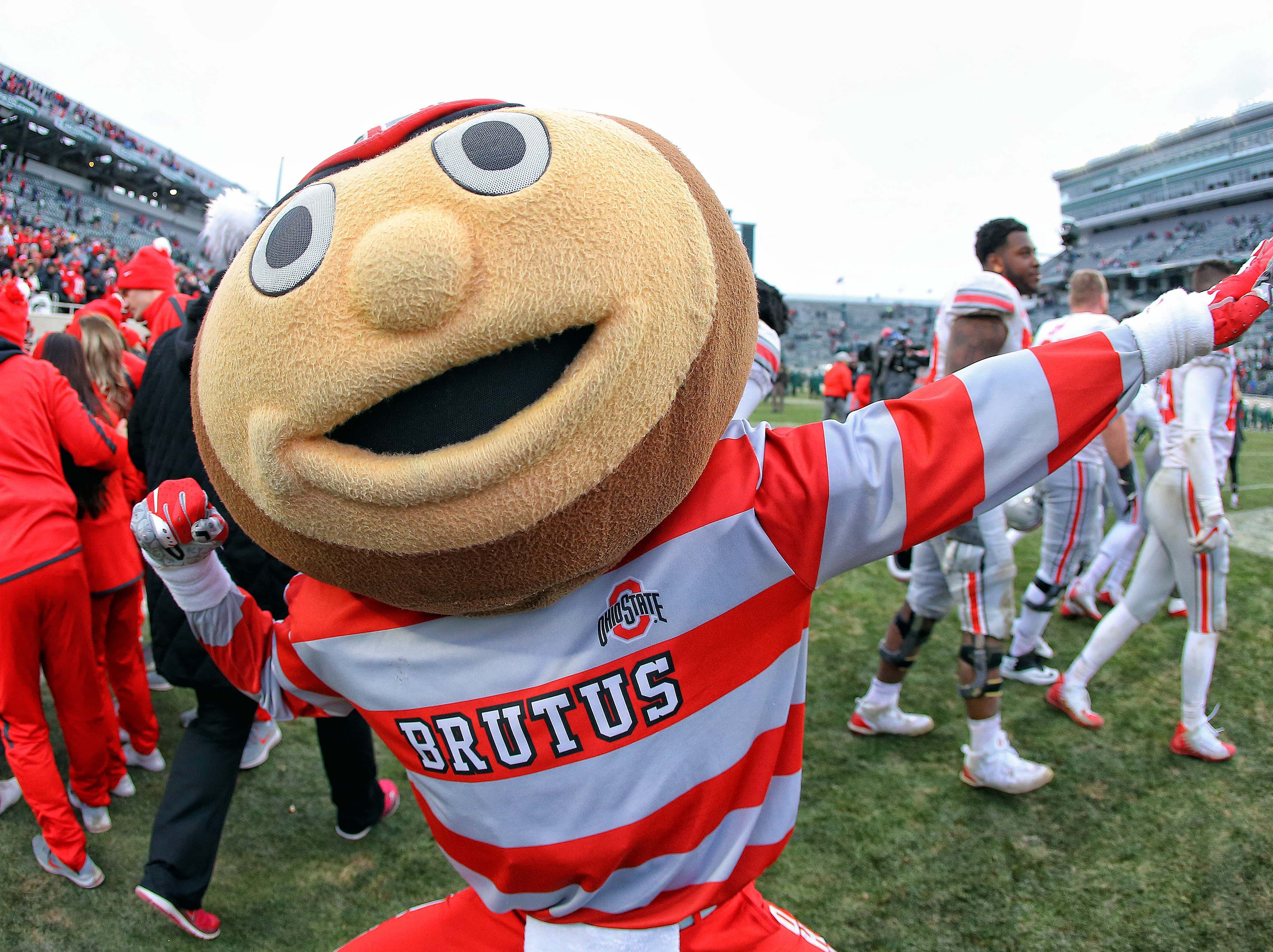 Week 11: The Ohio State Buckeyes mascot celebrates a win over the Michigan State Spartans.