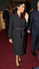 Duchess Meghan arrives at Royal Albert Hall for Saturday's observance.