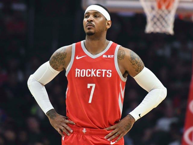 best sneakers 06baf 332b1 Carmelo Anthony: Rockets GM denies report of release
