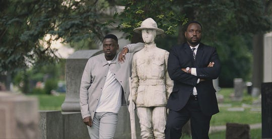 "Daniel Kaluuya (left) and Brian Tyree Henry star as a pair of crooked brothers wanting political power in Chicago in ""Widows."""