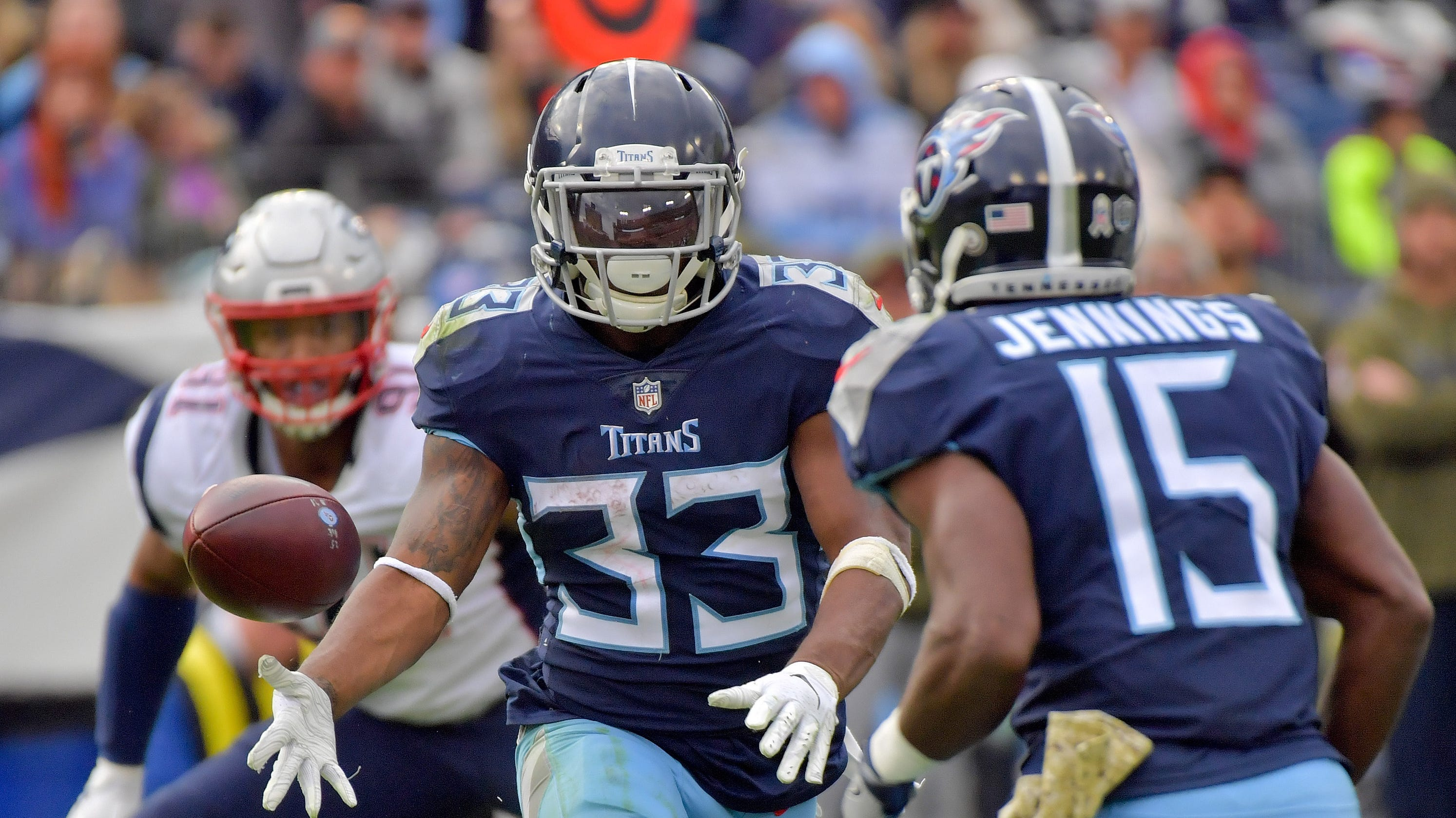 big sale 5d84b 98521 New England Patriots: Titans' Dion Lewis rips team as 'cheap'
