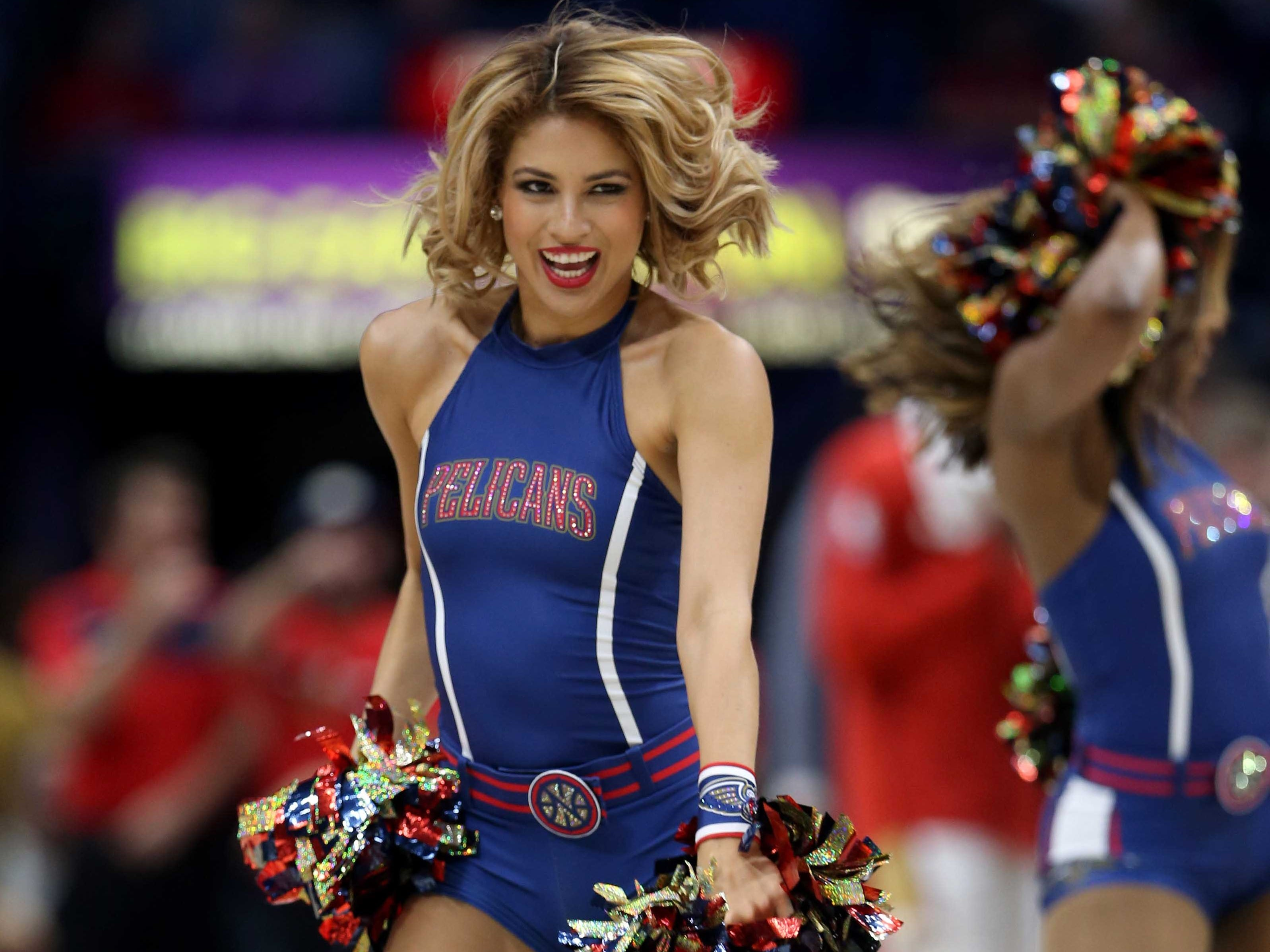 Nov. 10: The Pelicans dance team performs during a second-half stop in play against the Suns.