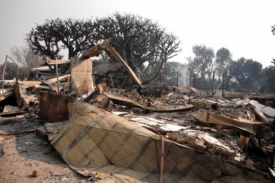Another view of Robin Thicke's Malibu home, which was destroyed in the California wildfires on Nov. 10.