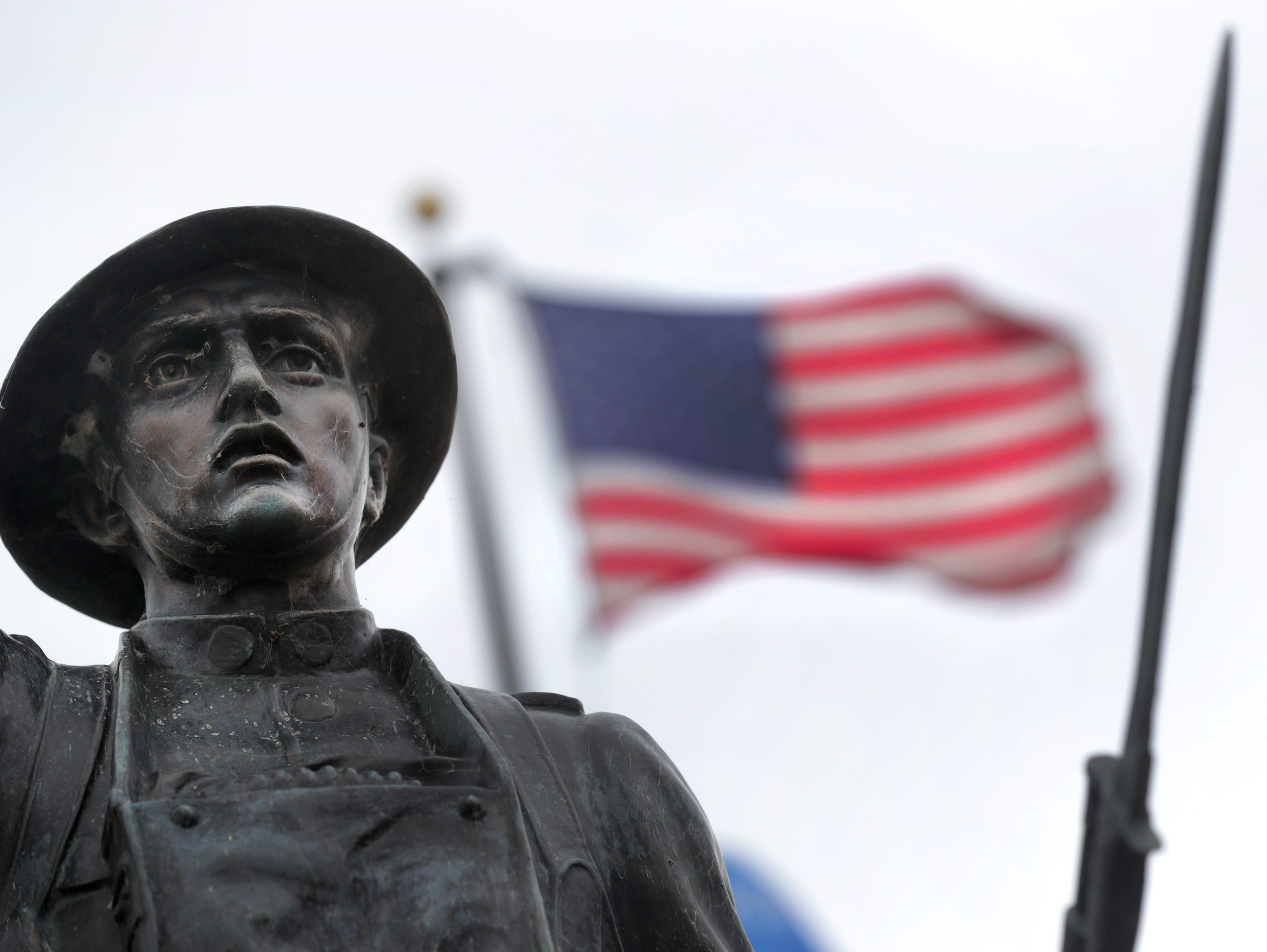 Statue depicting a World War I douighboy on S. Memorial Dr. on Wednesday, November 7, 2018, in Appleton, Wis. 