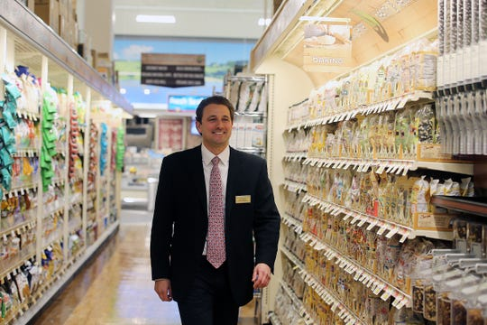 Rick Saker, senior vice president of Operations for Saker ShopRites, gives a tour of the new ShopRite in Shrewsbury, NJ Monday, November 12, 2018.