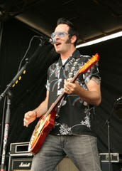 Getty Images Aaron Barrett of Reel Big Fish, pictured at the Vans Warped Tour in 2008 in Camden.