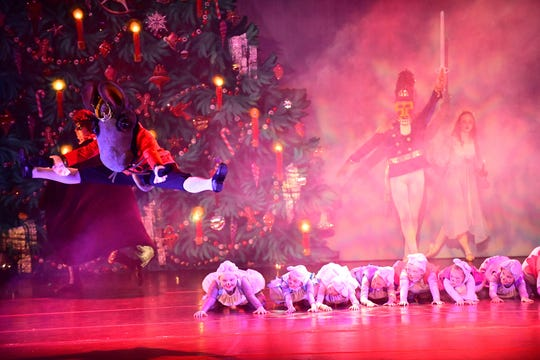 "The Mouse King (Seth Willis) in action in Abilene Ballet Theatre's annual production of ""The Nutcracker."""