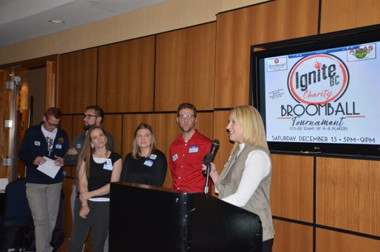 Six local professionals—Adam Kingston (from left), Cameron Cummins, Amy Wesaw, Caitlynn and Cody Newman and Kayla Thompson—came together and decided to start Ignite BC, a local networking organization which launched on Friday, Nov. 9, 2018.
