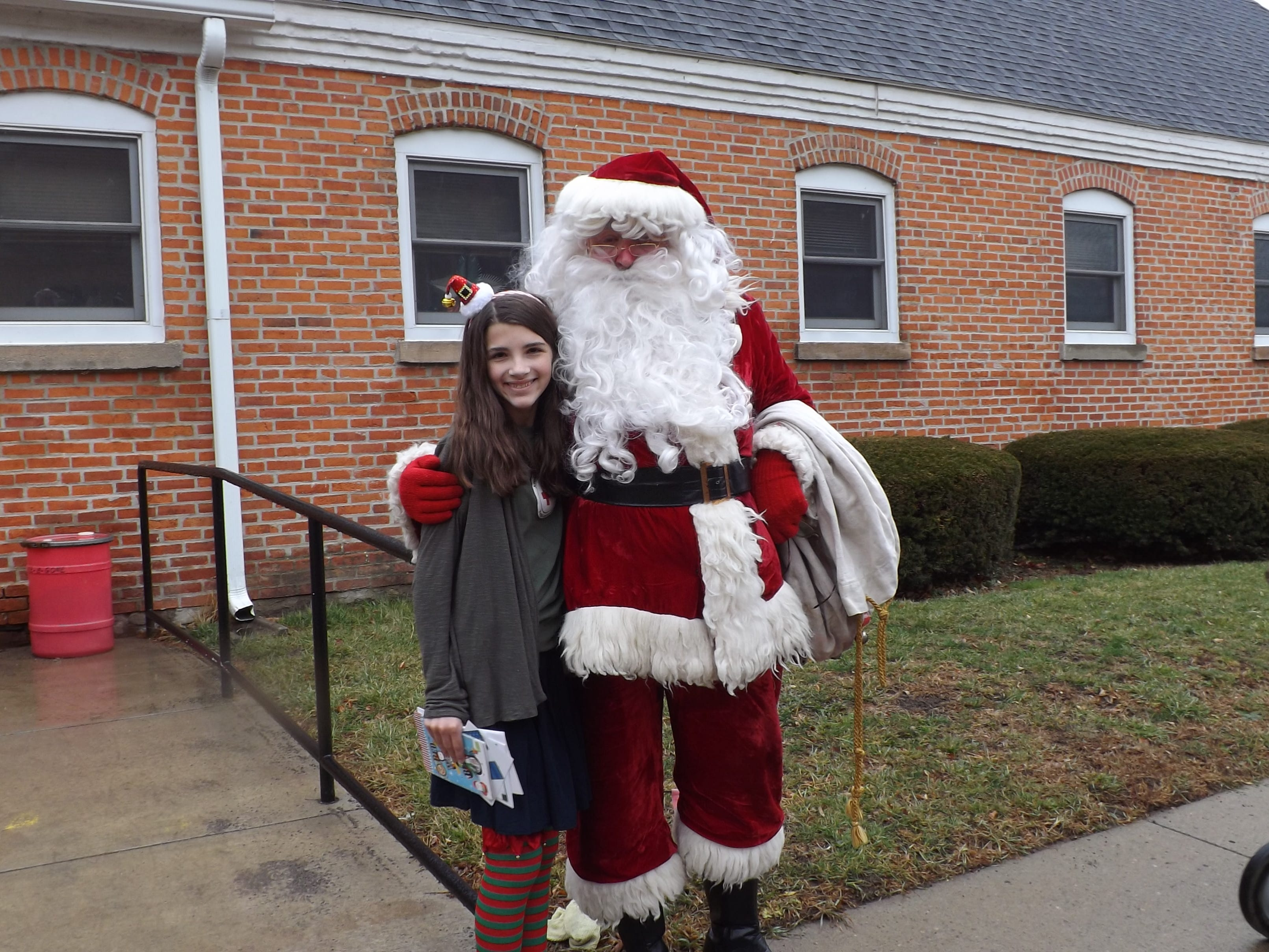 In 2014, Sophie Kartzman and Santa delivered holiday cards to veterans in the Bath VA Hospital just before Christmas. Sophie?s effort to gather signed cards with personal messages, for troops here and overseas ,generated more than 9,000 cards.