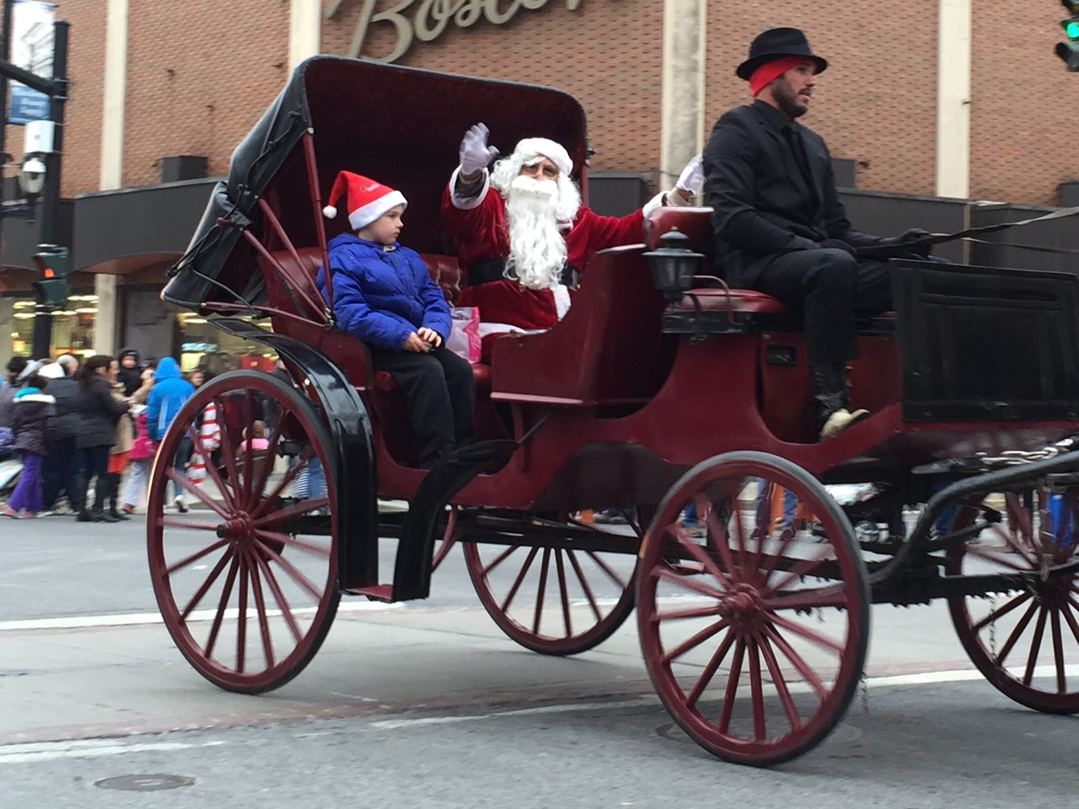 Santa Claus rode into downtown Binghamton in 2014. for the annual Boscov's Holiday Parade.