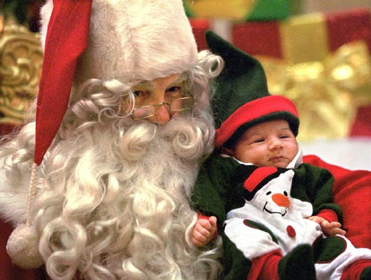 Santa arrives at the Sunset Mall this weekend.