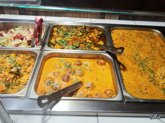 Some of the tempting choices available during the Curry's lunch buffet.