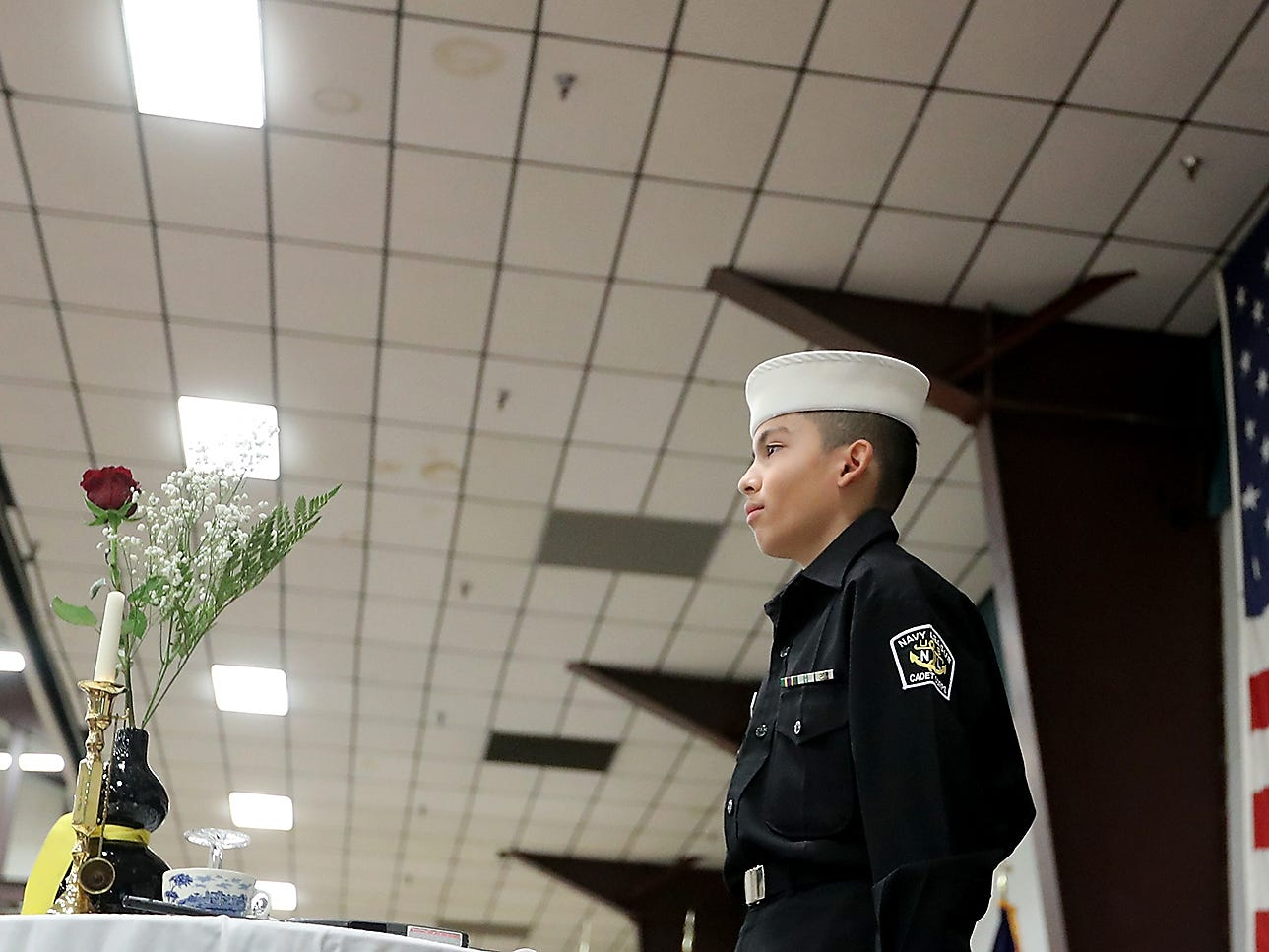 Honoring All Who Served Veterans Day ceremony at the Kitsap Sun Pavilion on Monday, November 12, 2018.