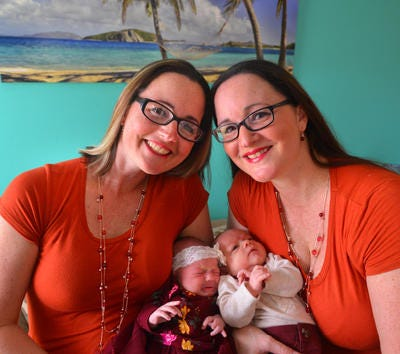Naomi Perri and her twin sister Natalie Luisi had the same due date for their babies, both were scheduled for October 19th, but Spencer came early on Sept. 26. Naomi Perri holding Aaliyah born Oct. 19 and Natalie Perri holding Spencer.
