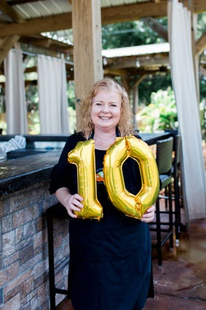 Beth Hazley, owner of Two Chicks and a Pot, is celebrating 10 years in the catering business.