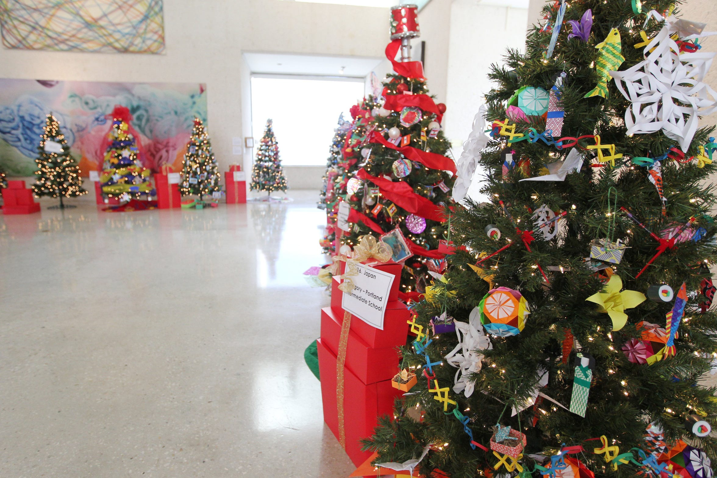 An annual favorite, the Christmas Tree Forest at the Art Museum of South Texas is a collaborative project sponsored by the Junior League of Corpus Christi, H-E-B and the museum.