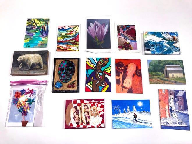 A look at the some of the pieces included in the Secret ArtWorks fundraiser.