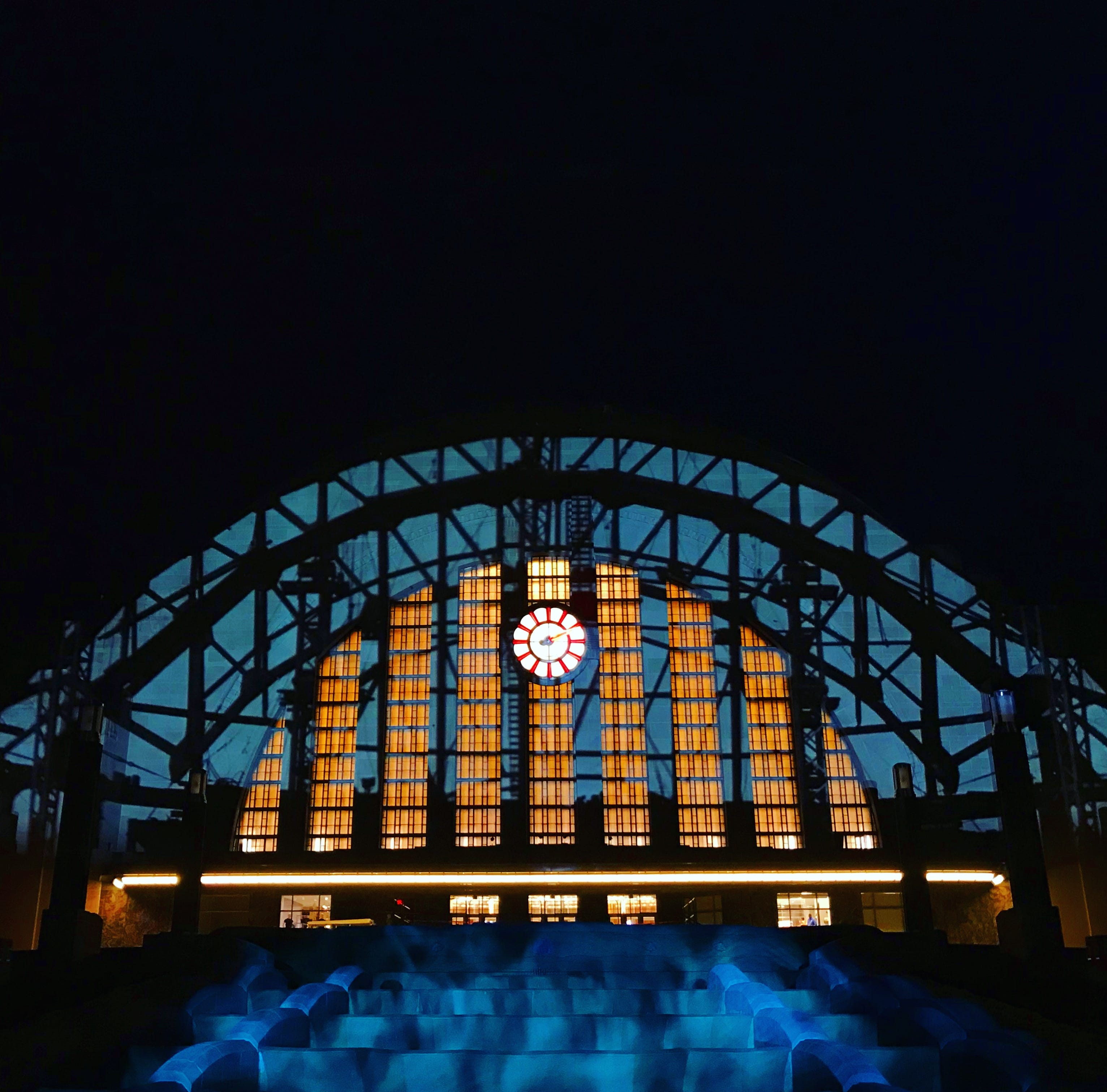 In honor of the Union Terminal reopening, there's a mini Lumenocity or Blink at night