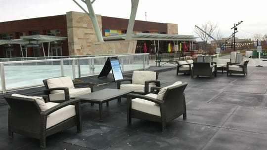 There are seating areas to watch skaters and a number of restaurants surrounding the ice rink at Summit Park in Blue Ash. It opens Nov. 17.