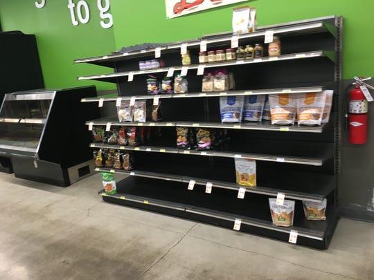 Clifton Market's empty shelves
