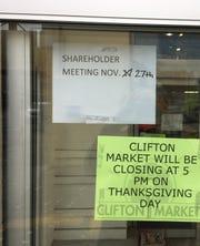 Clifton Market shareholder meeting scheduled for Nov. 27