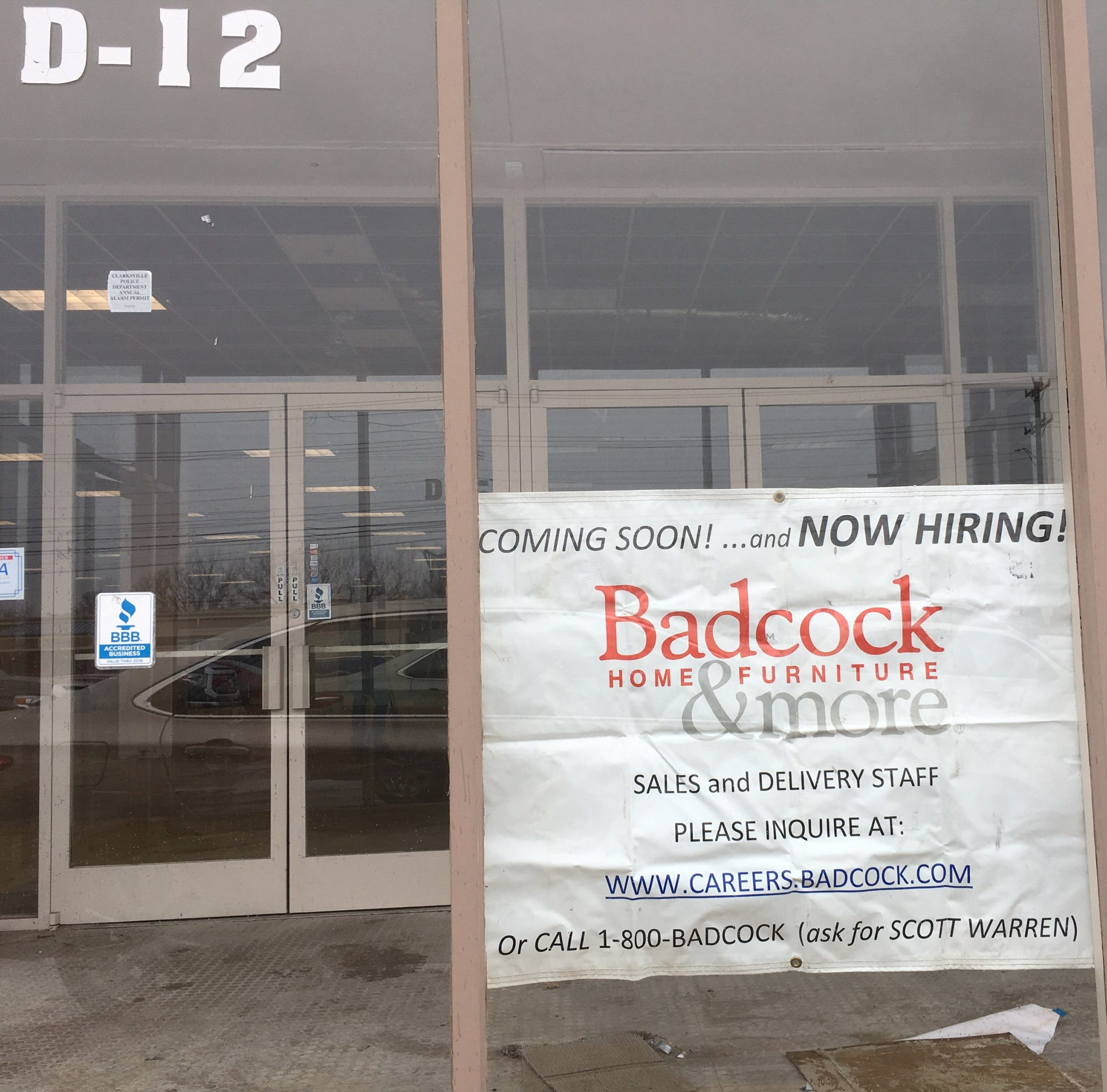 Badcock Furniture coming to Clarksville's Two Rivers Center