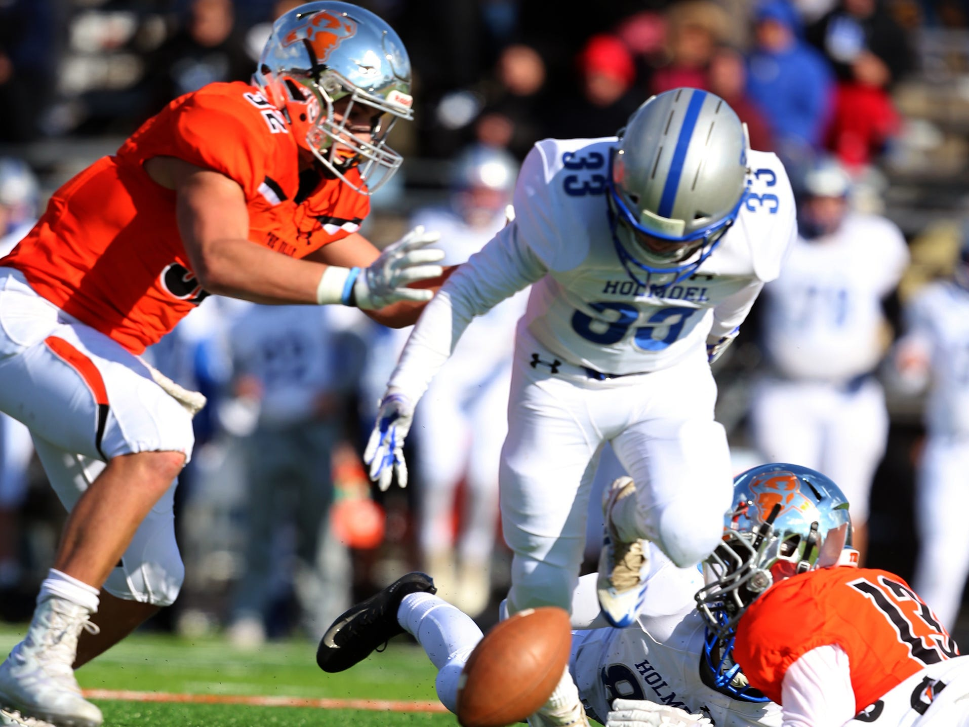 Holmdel at Somerville football in a Central Group III semifinal on Saturday, Nov. 10, 2018.