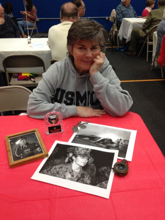 Jean Johnson, a Bedminster resident and aquatics instructor at Somerville YMCA, attended the Dinner of Gratitude event at Somerville YMCA on Friday, Nov. 9. She displayed photos and memorabilia of her military family to show guests. Hillsborough and Somerville YMCA, branches of Somerset County YMCA, welcomed local veterans with two special receptions in their honor.