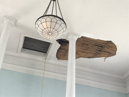 St. James Episcopal Church in Edison is in need of donations to repair a leak and  damaged ceiling in the church sanctuary.