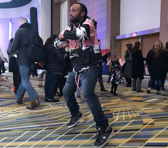 Damian Henderson of Detroit hoped the originality of his dance moves would impress producers at Monday's 'America's Got Talent' auditions at Cobo Center.