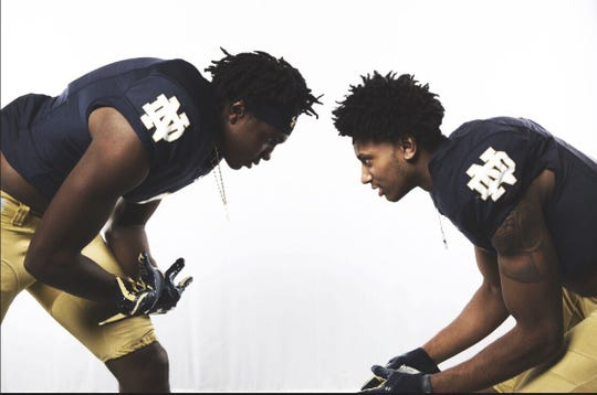 Both Maliq Carr (left) and Enzo Jennings have Notre Dame offers after a weekend visit.