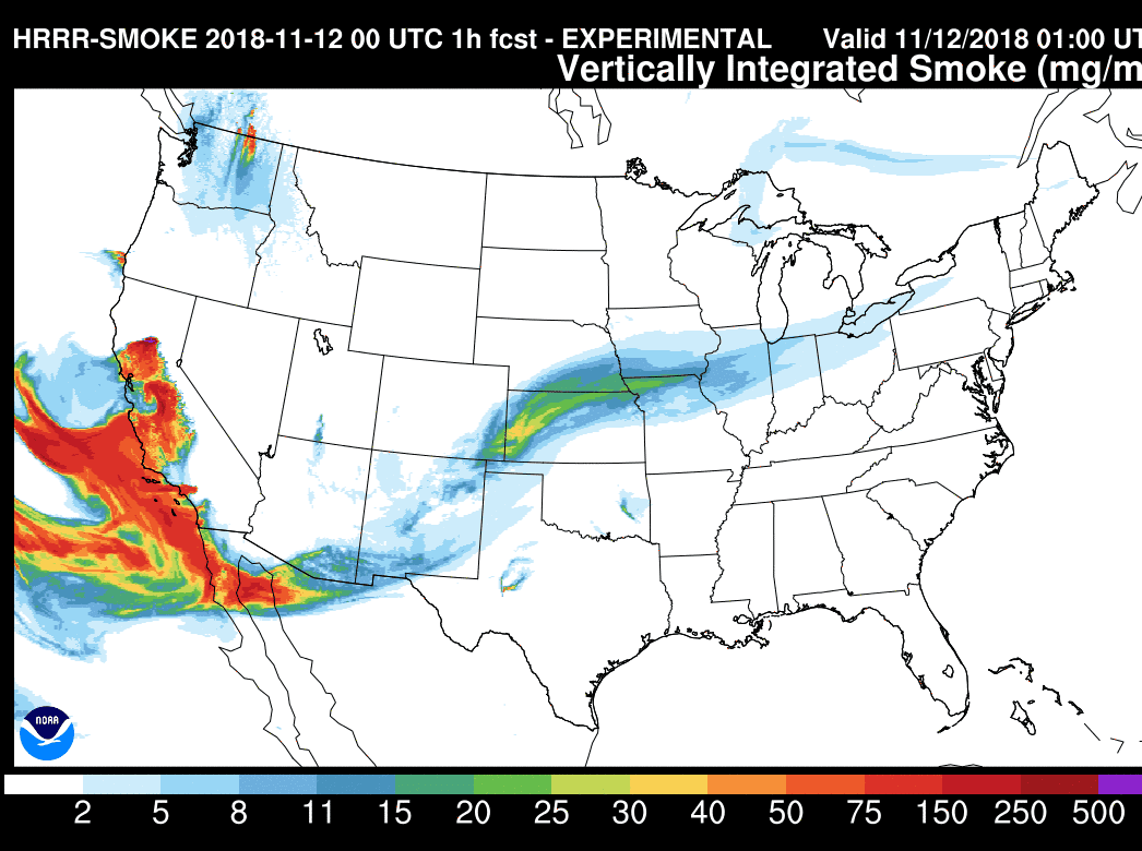 Smoke from California wildfires will reach metro Detroit today