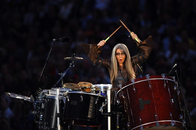 Evelyn Glennie performs during the Opening Ceremony of the 2012 Olympic Games at the Olympic Stadium on July 27, 2012, in London.