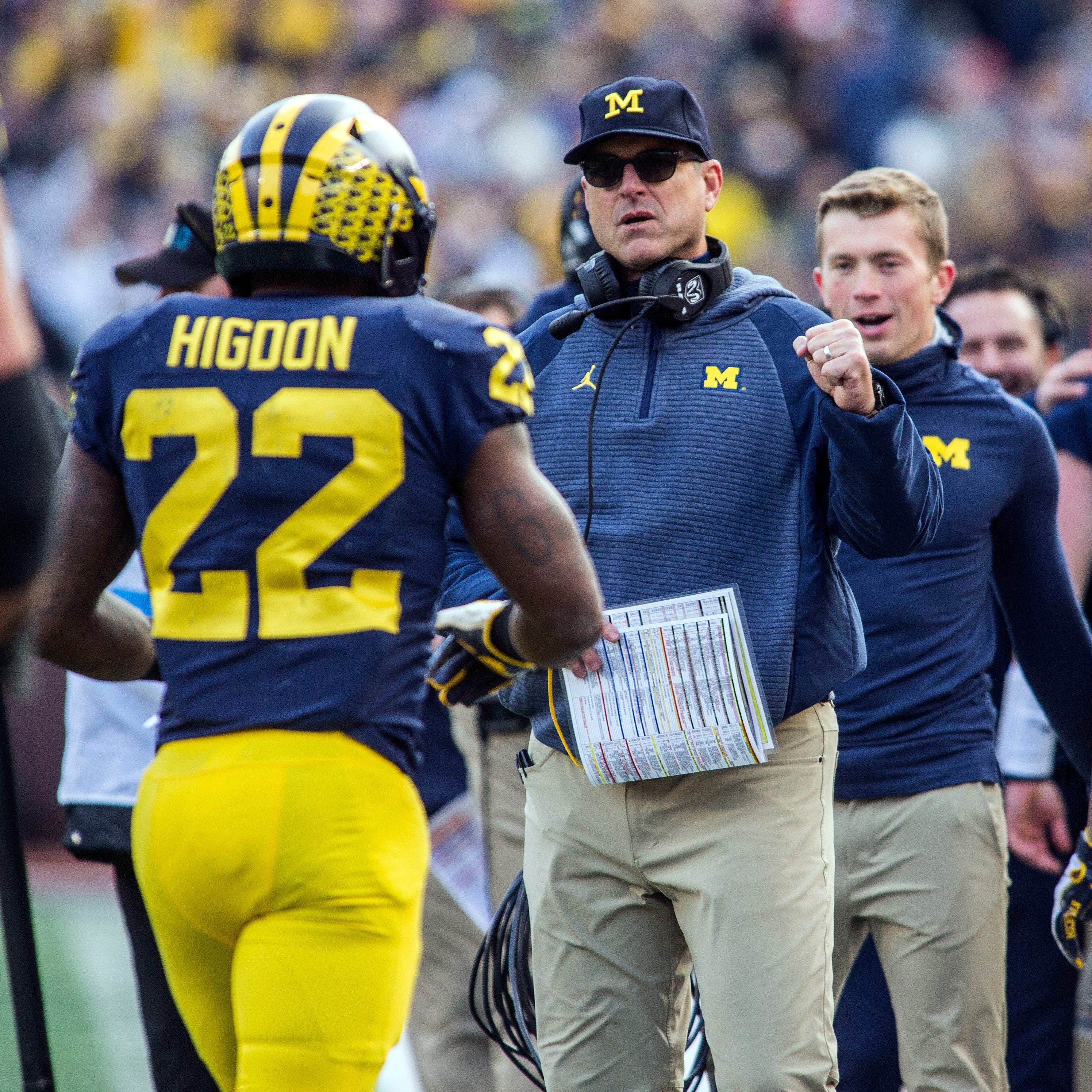 What Michigan coach Jim Harbaugh said in his Monday news conference