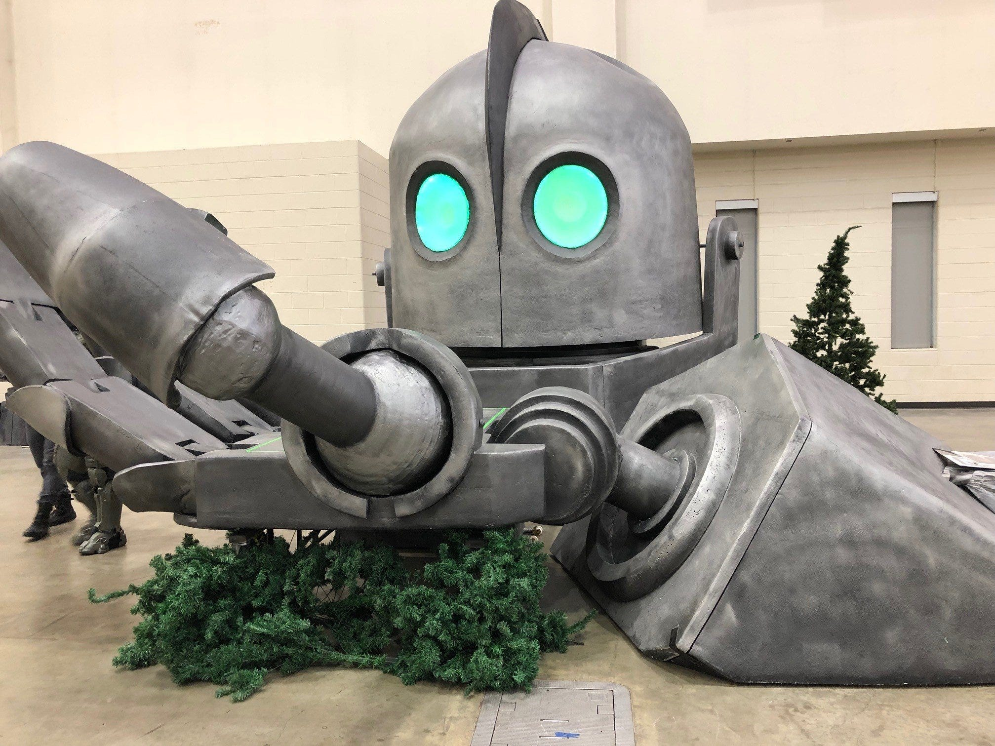 "A prop from the 1999 animated Cold War movie ""The Iron Giant"" was among the pop culture art on display at last weekend's Grand Rapids Comic-Con at the DeVos Place in Grand Rapids."