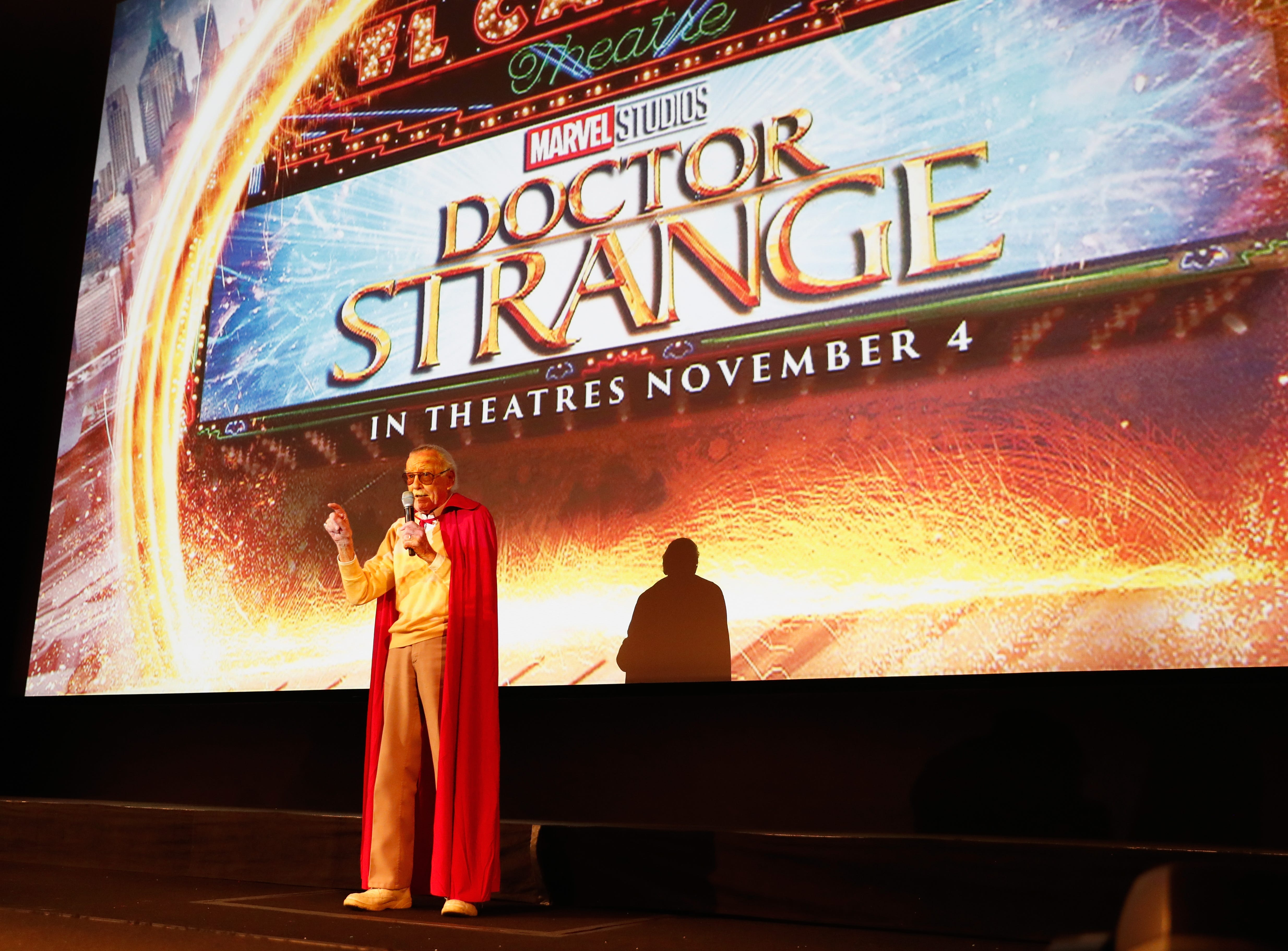 "Marvel fan families and kids attend a special screening of Marvel Studios' ""Doctor Strange"" in 3D hosted by Stan Lee at the El Capitan Theatre in Hollywood on October 23, 2016."