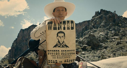 Movie review: Coens shorts are sweet in 'Buster Scruggs'